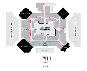 Mall of America LiveWell Walking Map